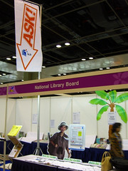 Setting up the NLB Booth @ Singapore Garden Festival