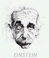 Caricatura Albert Einstein