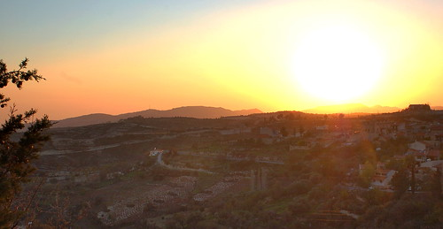 almost sunset over Vouni