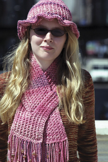 Easy Hat and Keyhole Scarf - Caron International Yarns and Latch