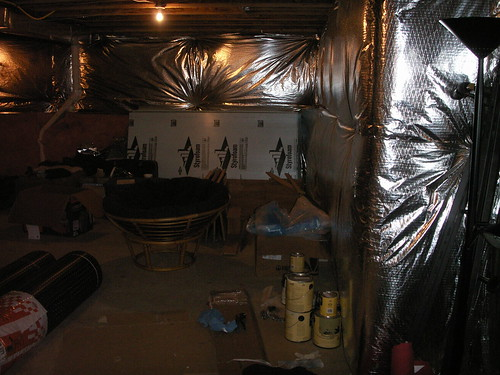 The oil room december 2006 for Blanket insulation basement walls