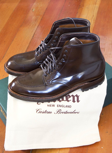 Alden Shell Cordovan Indy Boots (by AndrewNg.com)