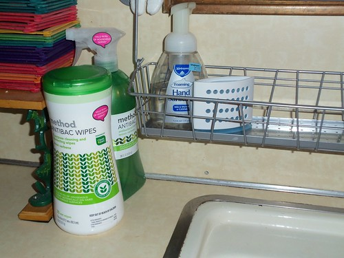 Review and giveaway method antibac cleaners closed mom of 3 girls for Cleanwell botanical disinfectant bathroom cleaner