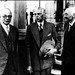 Mr Jinnah with Lord Pethick Lawrence and Mr A V Alexander