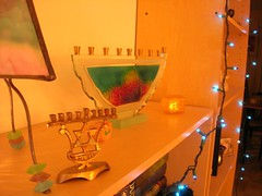Menorah and lights