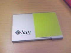 Sun name card case