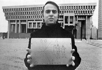 Carl Sagan (placa en Sonda Pioneer)