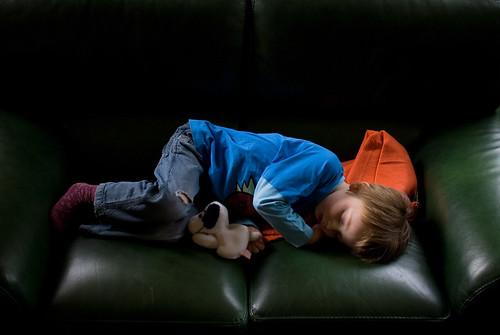 Louis slaapt