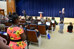 Secretary Kerry Responds to a Question at the State Department's Take Your Child to Work Day
