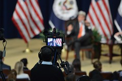 Secretary Kerry Answers Questions at a Town Hall at the Department of State