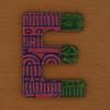 Cooper Hewitt magnetic letter E