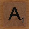wooden tile letter A