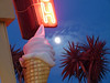 A12314 / full moon over waffle cone