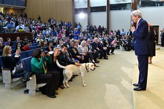 Secretary Kerry, With His Dog Ben, Delivers Remarks at the State Department's Take Your Child to Work Day