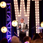 Artistic Director Michael Halberstam addresses guests at Writers Theatre's WordPlay Gala 2016 at the Four Seasons Hotel Chicago. Photo by Abby McKenna.