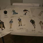 Costume renderings by Costume Designer Rachel Anne Healy at the first rehearsal for ARCADIA at Writers Theatre.