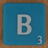 Scrabble white letter on blue B