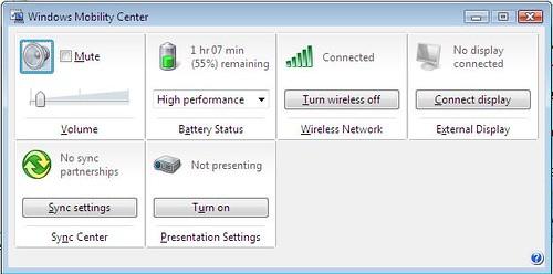 WindowsMobilityCenter
