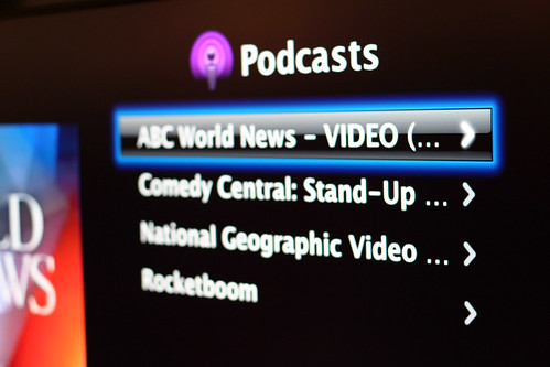 Podcast browse on Apple TV (by niallkennedy)