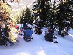 Lunch break at the ridge