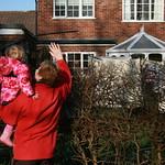 Waving to Grandpa<br/>18 Feb 2007