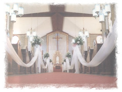 Church aisle during our wedding