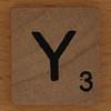 wooden tile letter Y