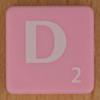 Scrabble white letter on pink D