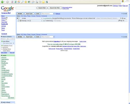 Google Mail Chat Screenshot
