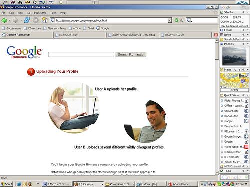 Google Romance Joke