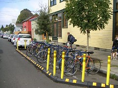 bike parking space, North Portland, OR