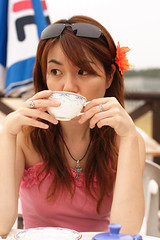A flickr photo of someone drinking tea from tea break's flickr blog