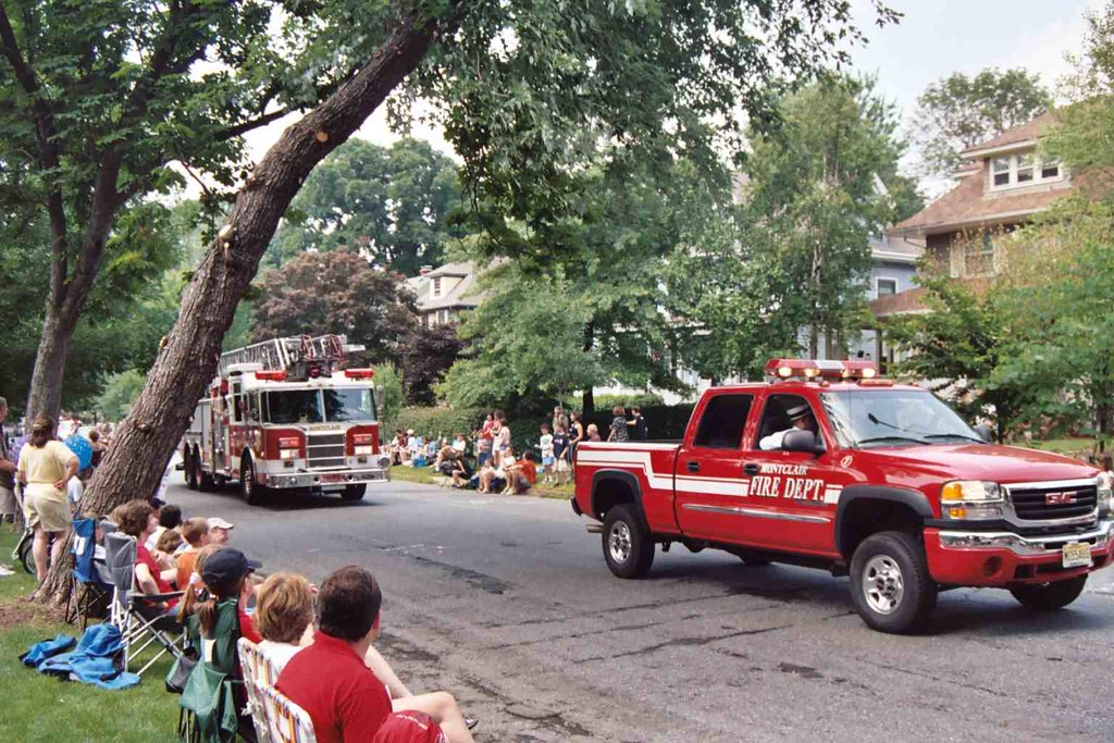 Photo of July 4 parade Fire Dept