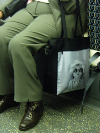 Black and White Bag Lady