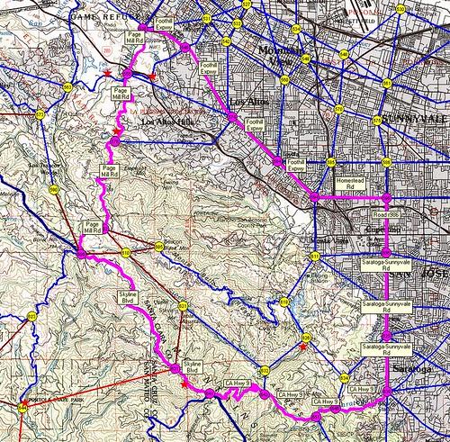 40 mile route