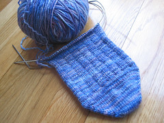 Gram's Socks - restarted foot