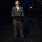 Stuart Carden speaks at Writers Theatre's Grand Opening Gala on February 8, 2016. Photo by Michael Brosilow.