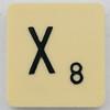 Scrabble Letter X