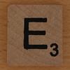 wooden letter E
