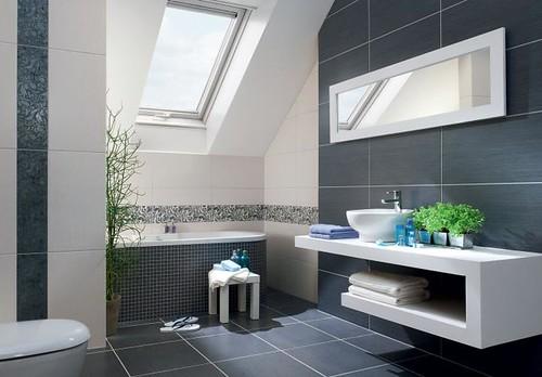 Białe płytki łazienkowe