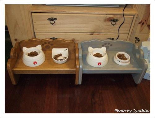 雙碗貓餐桌1