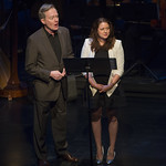 Michael Canavan and Liesel Matthews speak at Writers Theatre's Grand Opening Gala on February 8, 2016. Photo by Michael Brosilow.