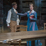 Greg Matthew Anderson (Septimus Hodge) and Chaon Cross (Lady Croom) in ARCADIA at Writers Theatre. Photo by Michael Brosilow.