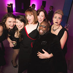 Actors Katie Spelman, Tiffany Topol, Erica Mac, Heidi Kettenring, James Earl Jones II and Emily Ariel Rogers  at the Grand Opening Gala for the new Writers Theatre, Feb 8, 2016.  Photo by Joe Mazza - brave lux.