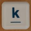 Boggle Junior letter k