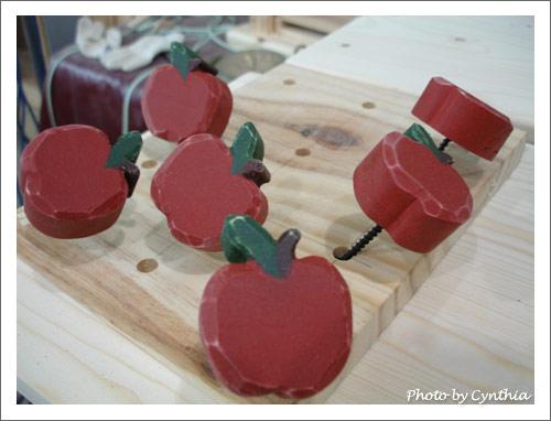 上色後的蘋果把手