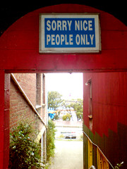 sign for nice people