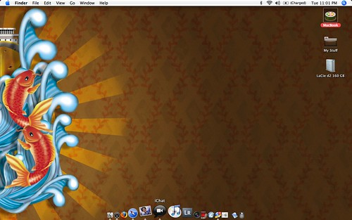 Uploaded by powerbooktrance Tags desktop wallpaper fish apple macintosh