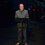 Gary Griffin speaks at Writers Theatre's Grand Opening Gala on February 8, 2016. Photo by Michael Brosilow.