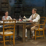 Elizabeth Stenholt (Thomasina Coverly) and Greg Matthew Anderson (Septimus Hodge) in ARCADIA at Writers Theatre. Photo by Michael Brosilow.